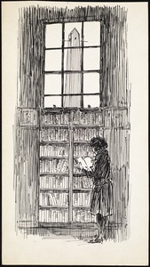 Young girl with book, West End Branch