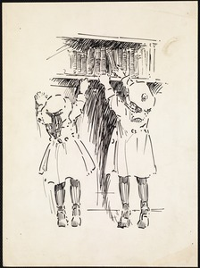 Two little readers, West End Branch
