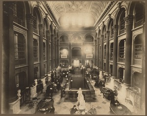 Bates Hall in the old Boston Public Library on Boylston Street, built 1858