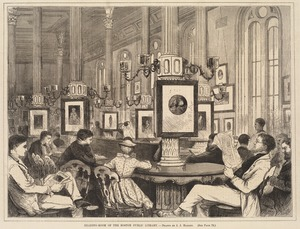 Reading-room of the Boston Public Library