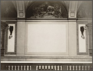 Boston Public Library. Sargent Hall. Unfinished panel