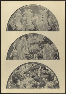 Illustrations of the Sargent murals