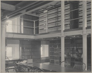 Boston Public Library. Statistical department (formerly patent room)