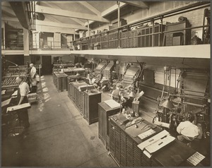 Boston Public Library, Copley Sq. Printing department