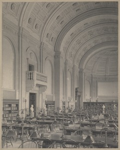 Boston Public Library. Bates Hall