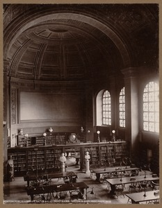 Boston Public Library. Bates Hall. North end