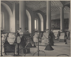 Boston Public Library, Copley Square. Newspaper room