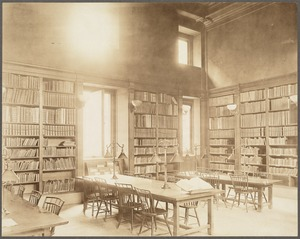 Boston Public Library, Copley Square. Teachers' Room, Adams Library