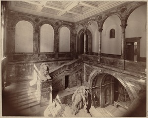 Boston Public Library. Copley Square. Grand stairs, during construction