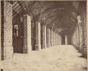 Boston Public Library, Copley Square. Interior during construction