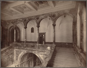 Boston Public Library, Copley Square. Grand staircase, construction
