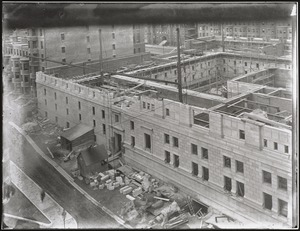 View from S. S. Pierce building of BPL construction