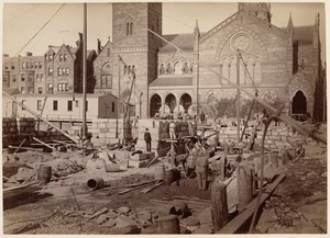 Boston Public Library, Copley Sq. Foundations, from Dartmouth Street