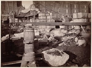 Boston Public Library, Copley Sq. Foundations from cellar