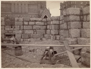 Boston Public Library. Copley Square. Construction: From Blagden Street