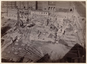 Boston Public Library, Copley Sq. Foundations from S. S. Pierce's store