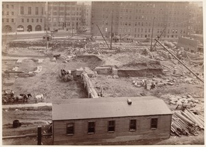 Boston Public Library, Copley Sq. Foundations from Old South Church