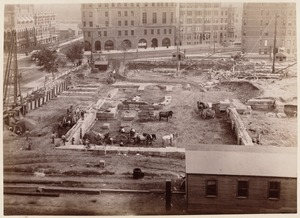 Boston Public Library, Copley Sq. Foundation from Old South Church