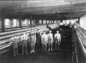Workers in the Wood Mill, Lawrence, Mass.