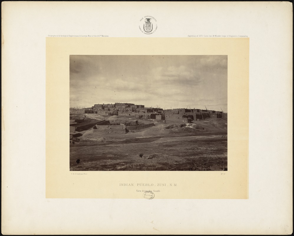 Indian pueblo, Zuni, N.M. View from the south side
