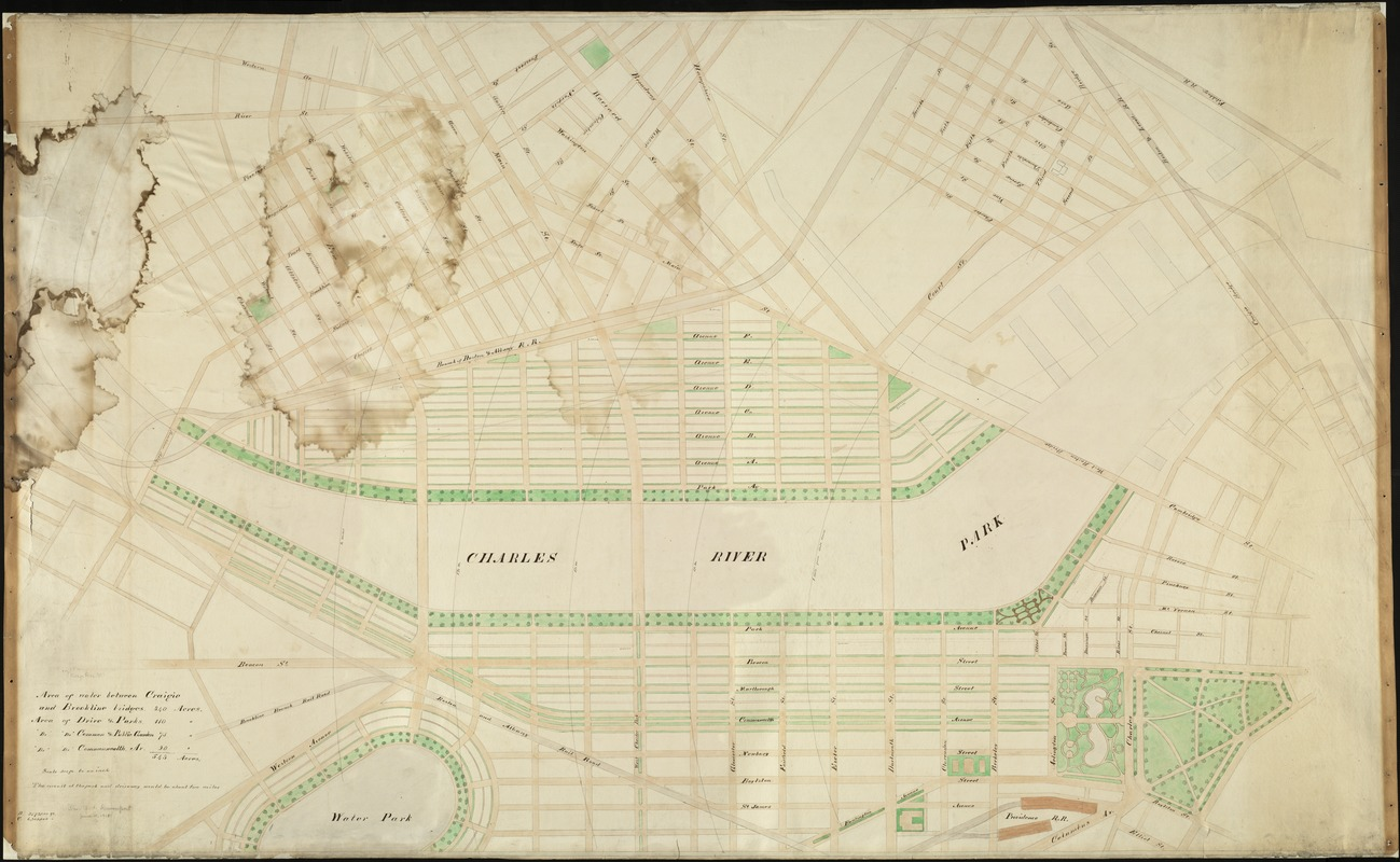 [Plan for proposed Charles River Park]