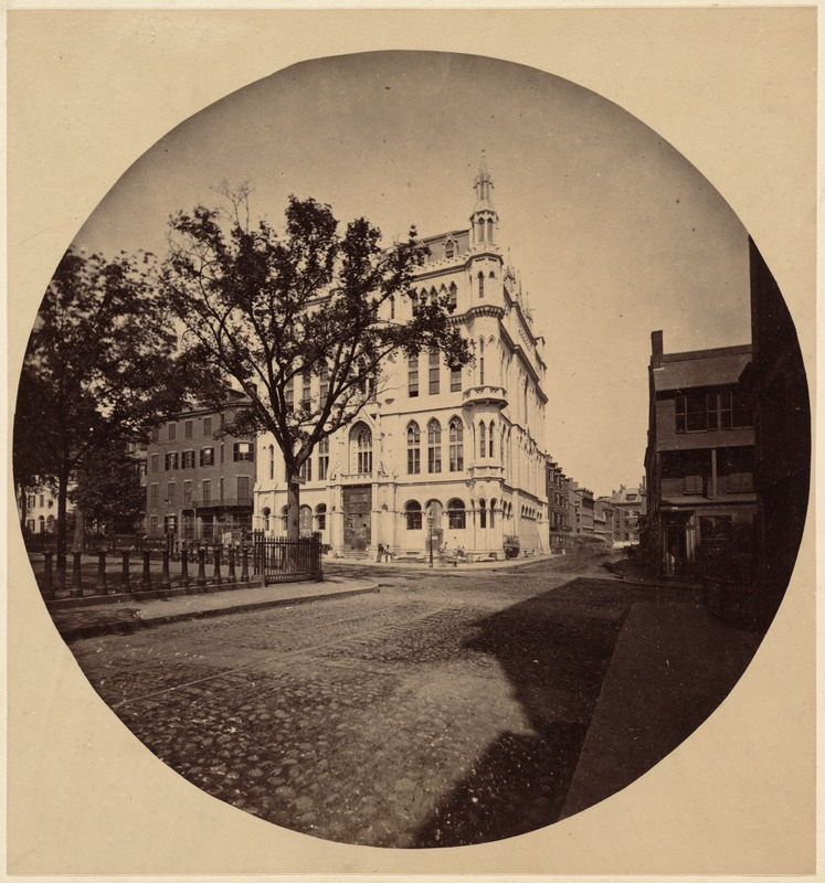 Masonic Temple, 1864. Corner Tremont and Boylston Sts.