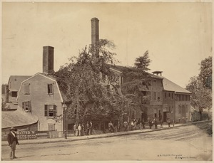Commercial buildings: Old Roessle Brewery, Pynchon St. at Roxbury Crossing (now Hanley Sq.) opposite Roxbury St.