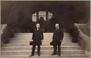 Old Martin Elementary School - A. P. Martin & unidentified gentleman (A. P. Martin on the right)