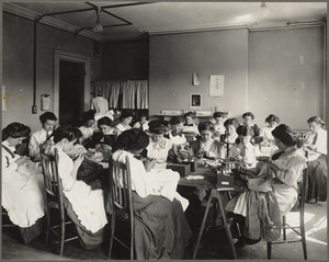 Boston Public Schools - girls' trade school - dressmaking class