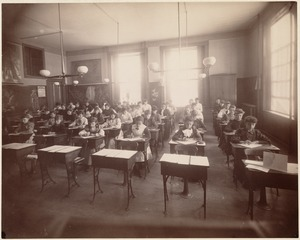 Third class (7th year). Representing class in penmanship. Hancock School, June 1892