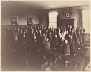 Untitled - interior - exercising in classroom (boys)