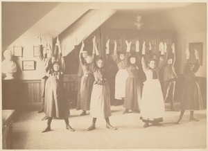 Untitled (class doing exercises)