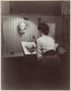 Boston public schools - evening drawing school - drawing head and bust