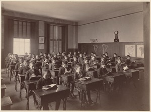Part of Bigelow School (4th class), 2nd room taken