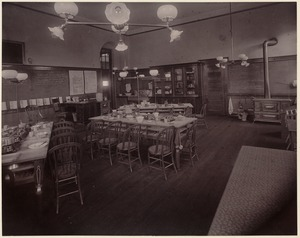 Bowdoin School - home economics classroom (kitchen) - interior
