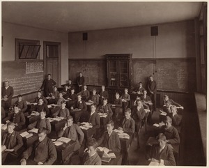 B. Bates School - interior - one division of the fourth class, third year)