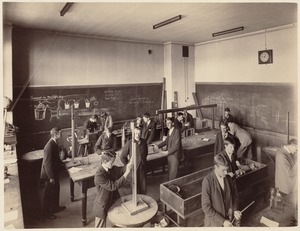 Boston Latin School - interior - physics laboratory (?)