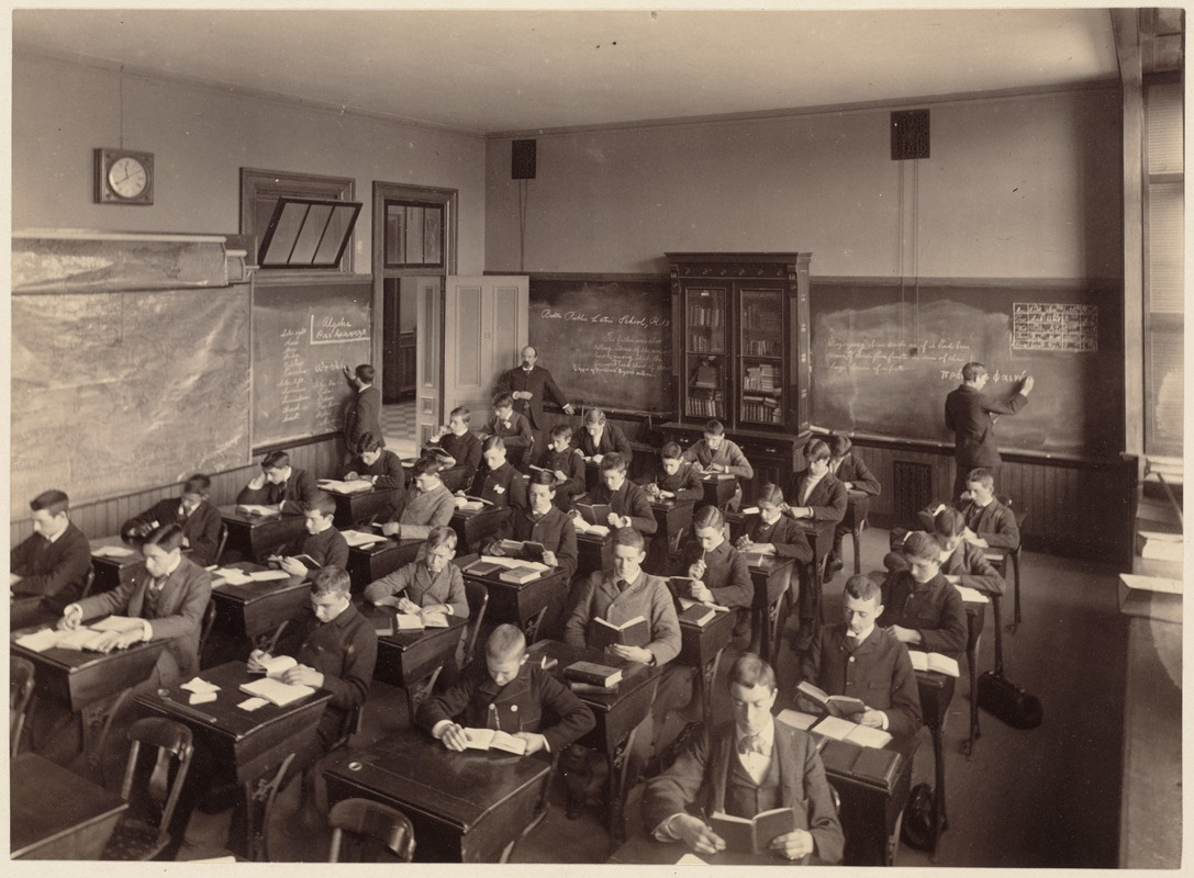 Boston Latin School - interior - one division of the third class, fourth year, room 13