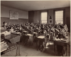 Everett School - interior - 3rd class, 2nd division