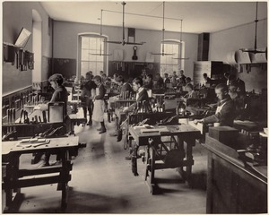 Dwight School - shop class (interior)