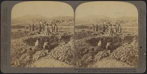 Burying the Russians killed in the desperate fighting on 203 metre hill in besieged Port Arthur