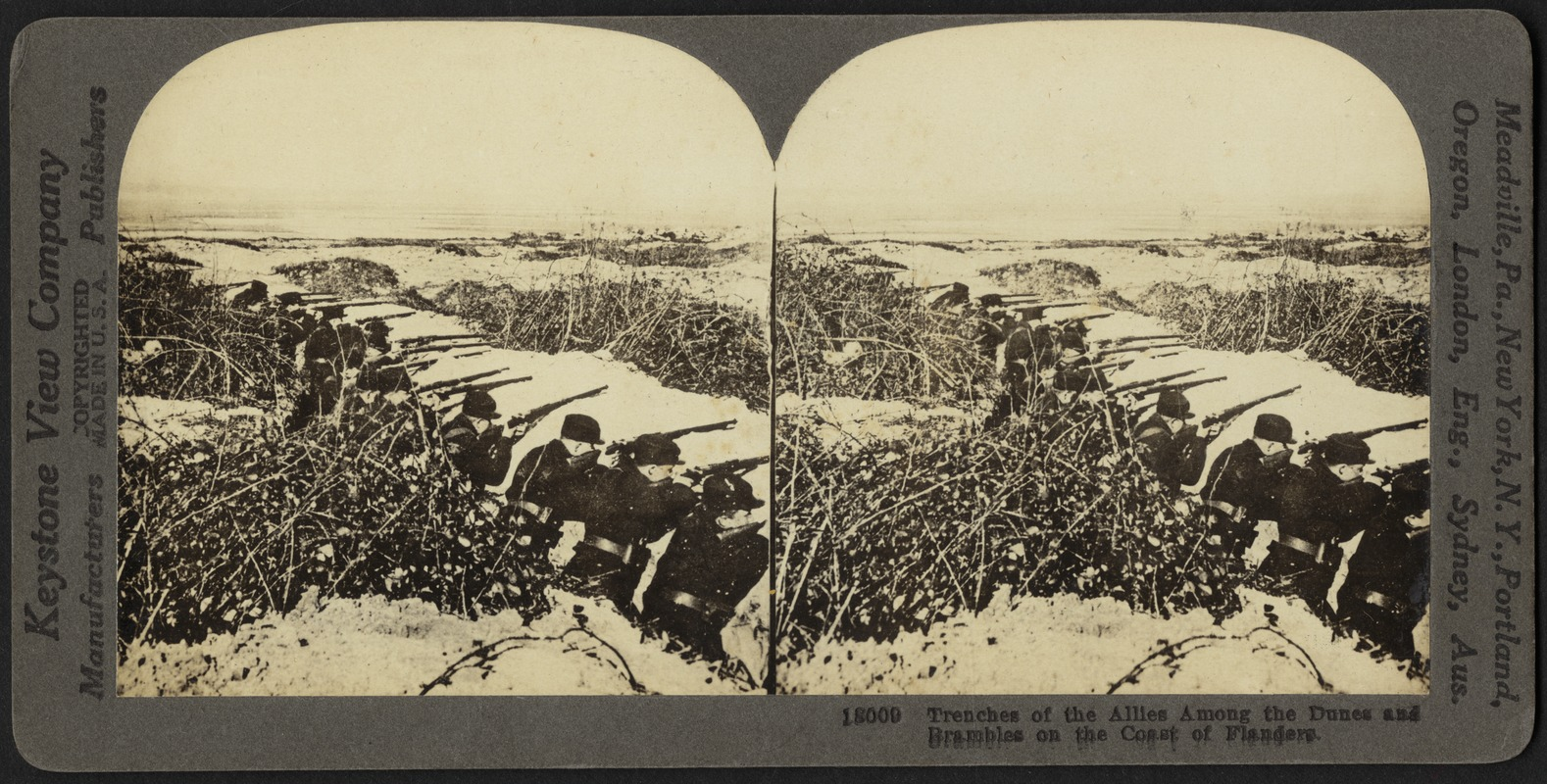 Trenches of the Allies on the coast of Flanders