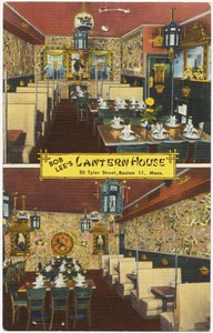 Bob Lee's Lantern House, 20 Tyler Street, Boston 11, Mass.