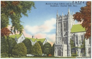 Boston College Library and Jesuit Faculty Residence, Chestnut Hill, Mass.