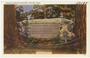 Graves of British soldiers, Concord, Mass.