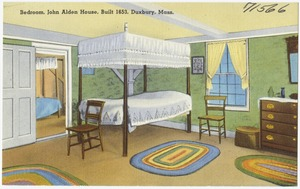 Bedroom, John Alden House, built 1653, Duxbury, Mass.