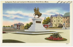 Lafayette Park and Lafayette Monument, Fall River, Mass.