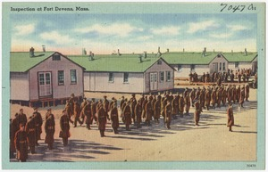 Inspection at Fort Devens, Mass.