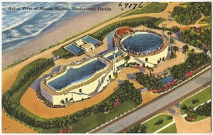 Aerial view of Marine Studios, Marineland. Florida