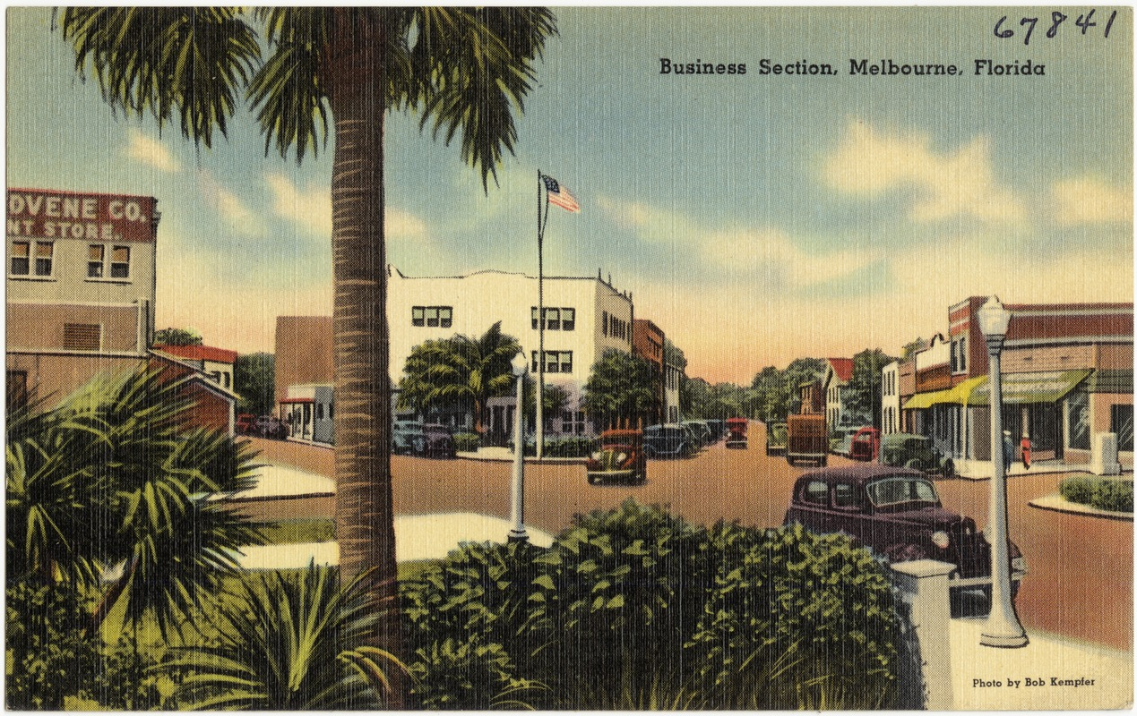 Business section, Melbourne, Florida